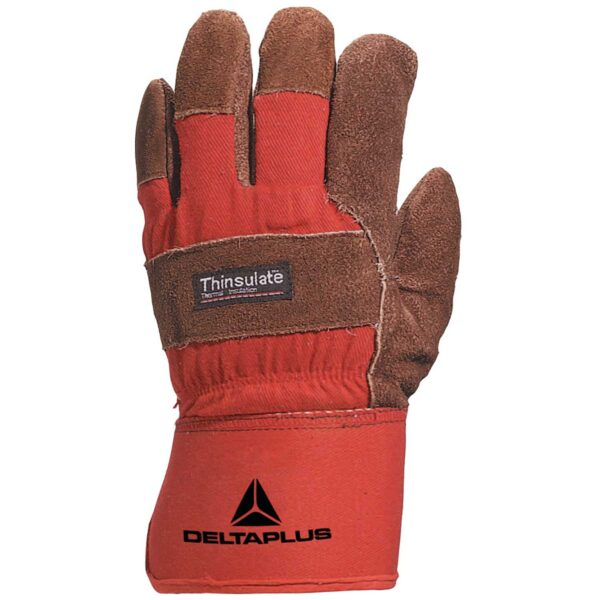 Docker cowhide leather Thinsulate lined gloves