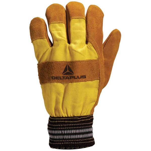 Cowhide leather lined docker gloves