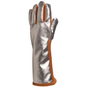 Leather hide welder's Aluminised gloves
