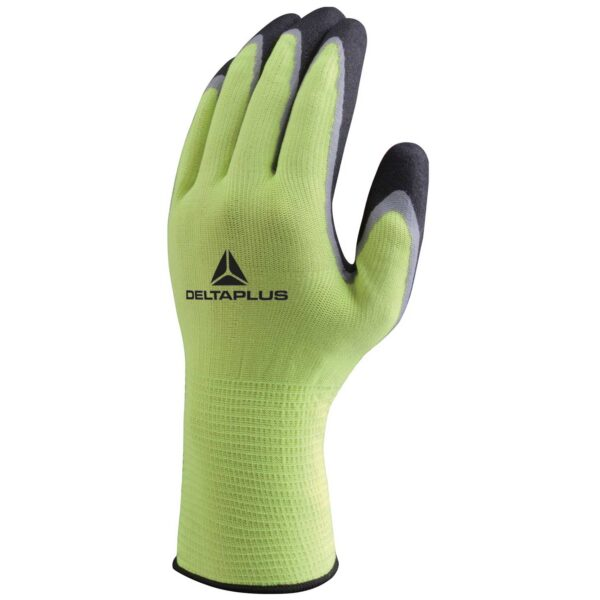 Double nitrile polyester knitted gloves