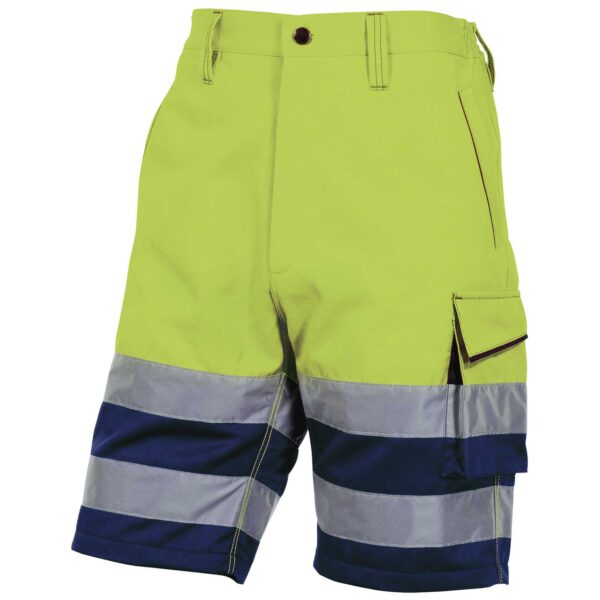 High Visibility bermuda shorts MACH cotton polyester